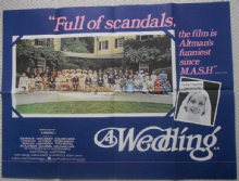 Wedding, Original UK Quad Poster, Mia Farrow, Lilian Gish, '78